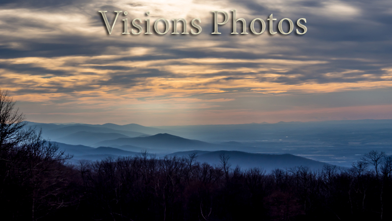 A View of the Blue Ridge Mountains from Skyline Drive